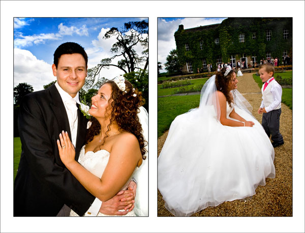 Summer wedding at Woolley Hall