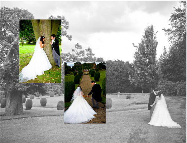 Romantic storybook wedding pictures in grounds of Woolley Hall