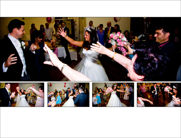 Armenian wedding dancing at evening wedding reception UK