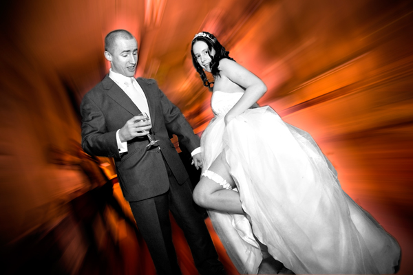 dramatic wedding image from winter Leeds wedding photo Christmas 2008