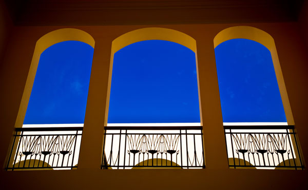 Arched windows in Sofitel Hotel Taba Heights Egypt