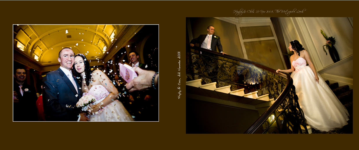 winter wedding storybook album cover Leeds Metropole Hotel