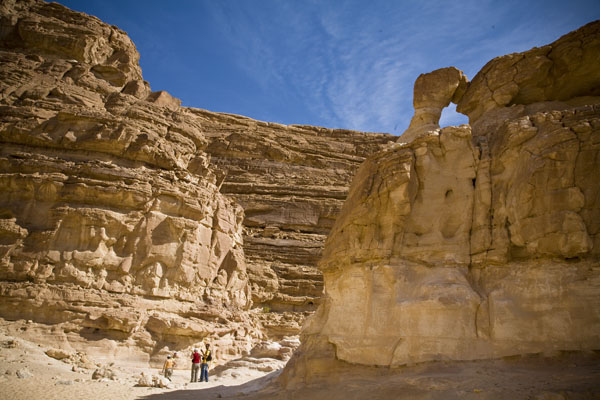 picture of the Coloured Canyon near Nueiba in Sinai Egypt