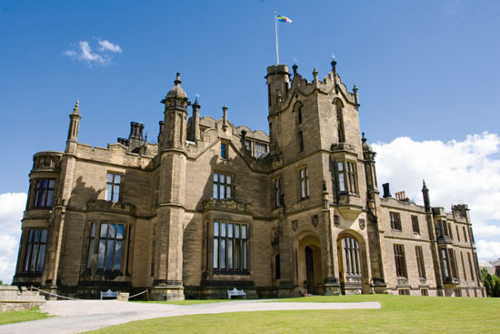 front view of Allerton Castle wedding venue in North Yorkshire