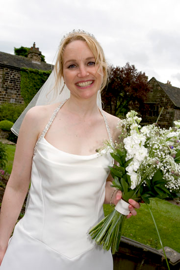 bride at wedding venue Oakwell Hall Birstall