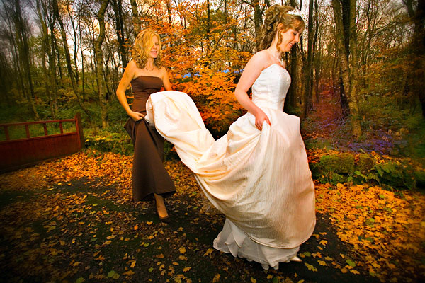 Autumn wedding at Chevin Lodge Country Park Hotel in Otley