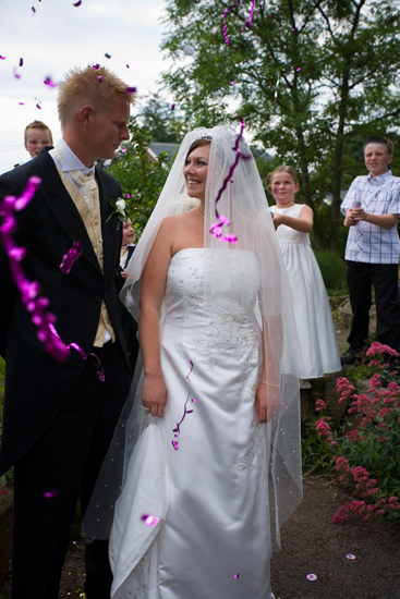 wedding confetti at Blenheim House - wedding venue in Batley