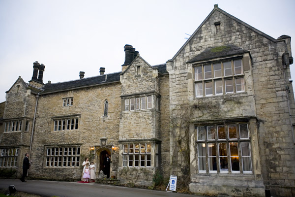 Front view of Monk Fryston Hall Hotel West Yorkshire wedding venue