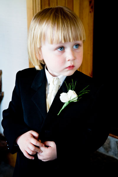 little man ready for the wedding