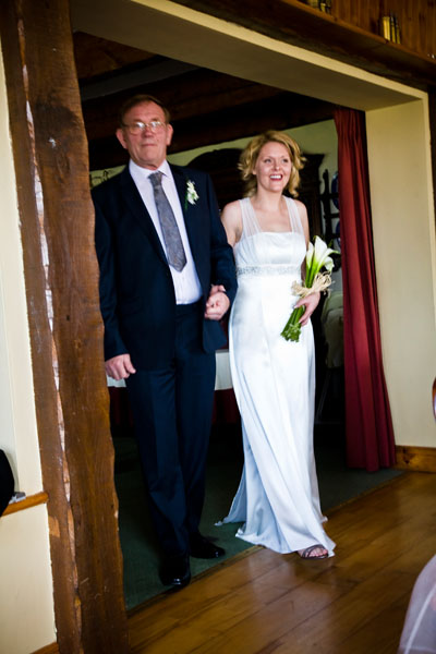 bride walks in with her father