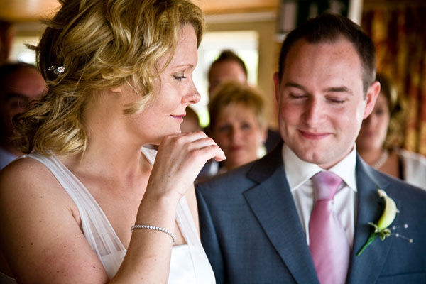wedding vows begin with happy emotions