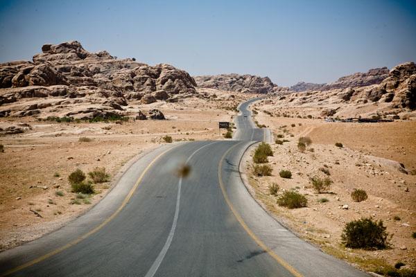 desert landscape in Petra