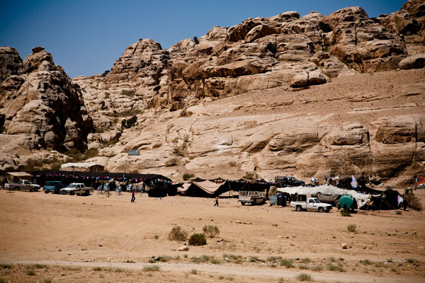 site of second Bedouin wedding in Petra