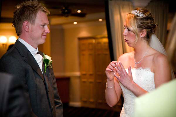 Signed wedding at Waterton Park Hotel near Wakefield