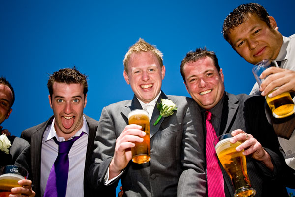 the lads at Martin & Leanne's wedding at Waterton Park Hotel
