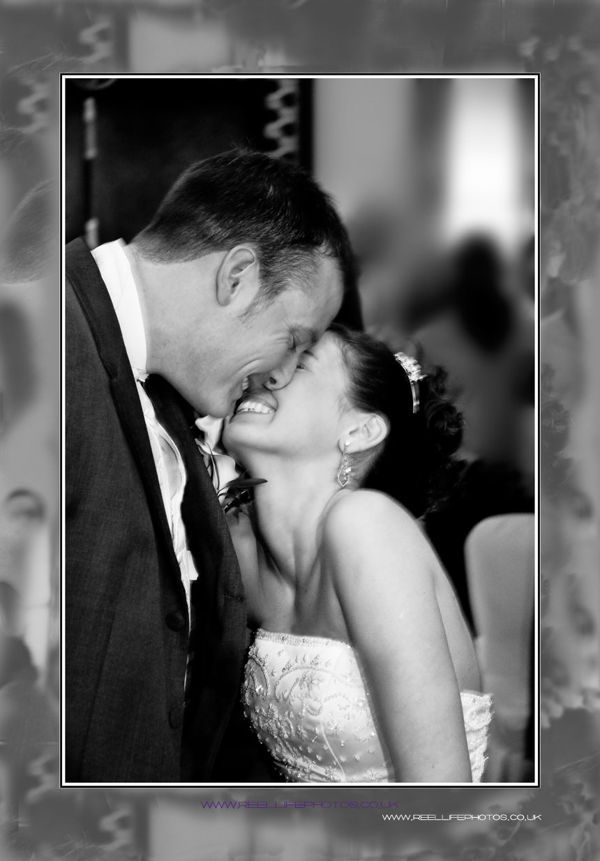 Black and White wedding photo on acrylic wall print