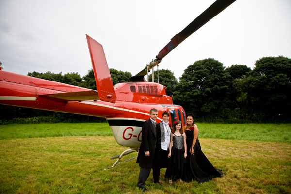 Surprise helicopter ride organised by gay bride Dawn for civil partner Helen