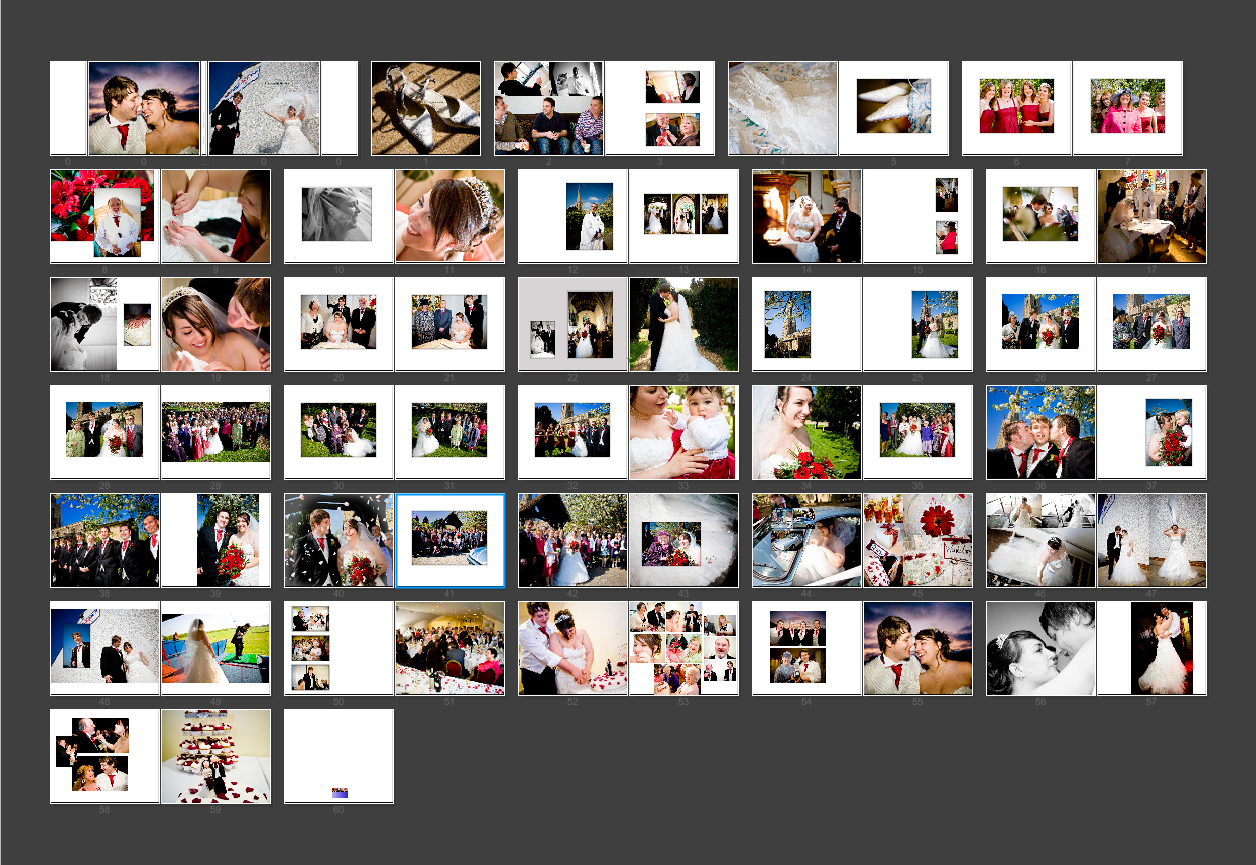 Layout thumbnails for Laura & Daniel's storybook wedding Album