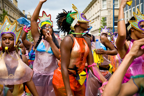 female Caribbean dancers at Huddersfield Carnival 2009