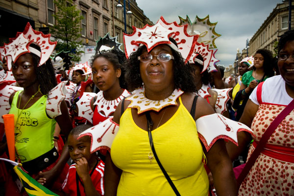 Big mama and other Caribbean dancers at Huddersfield Carnival 2009