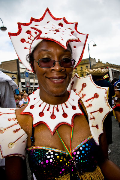 Caribbean headress at carnival in Huddersfield 2009