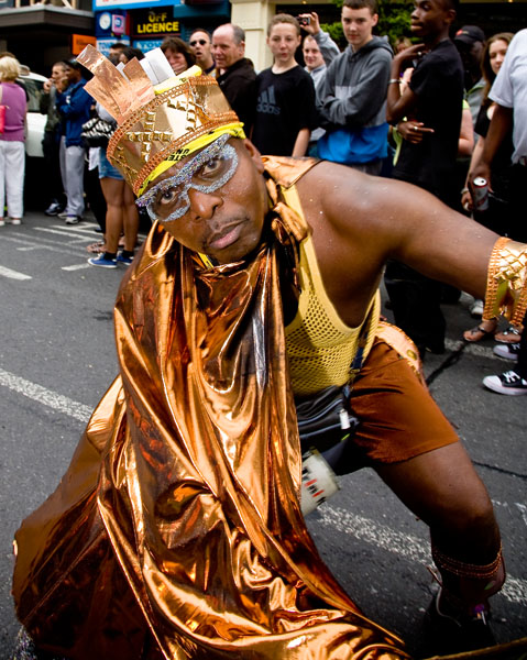 male Caribbean dancer at Huddersfield carnival 2009