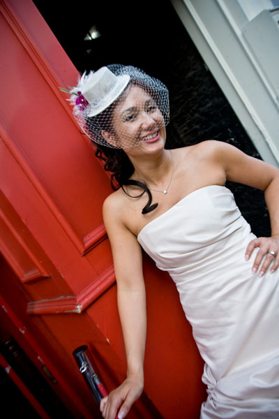 Glamorous bride Michelle in Leeds during evening wedding reception