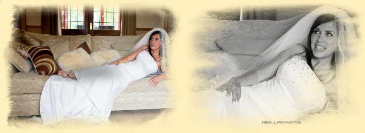 bridal portraiture, pages 12-13 Graphistudio wedding storybook by Reel Life Photos