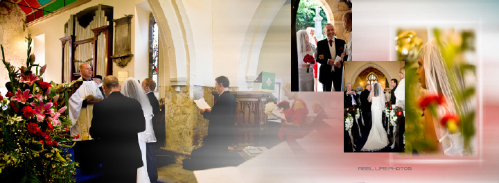Sascha & James wedding ceremony inside St. Mary's church in Hook near Goole East Yorkshire