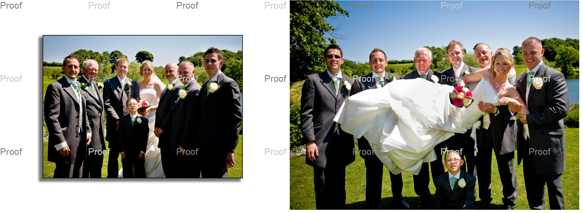 traditional family wedding photos chosen by the couple for their wedding at Waterton Park Hotel