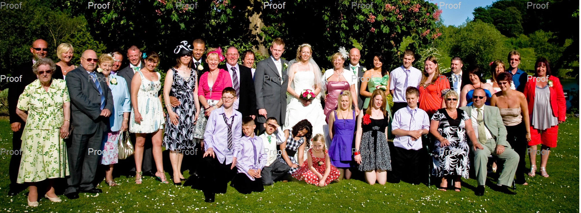 big families need recording for posterity of their wedding day - just fitted them all in phew!