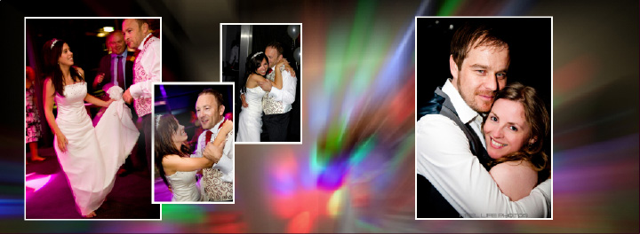 night time dancing at James & Sascha's KP Club wedding reception