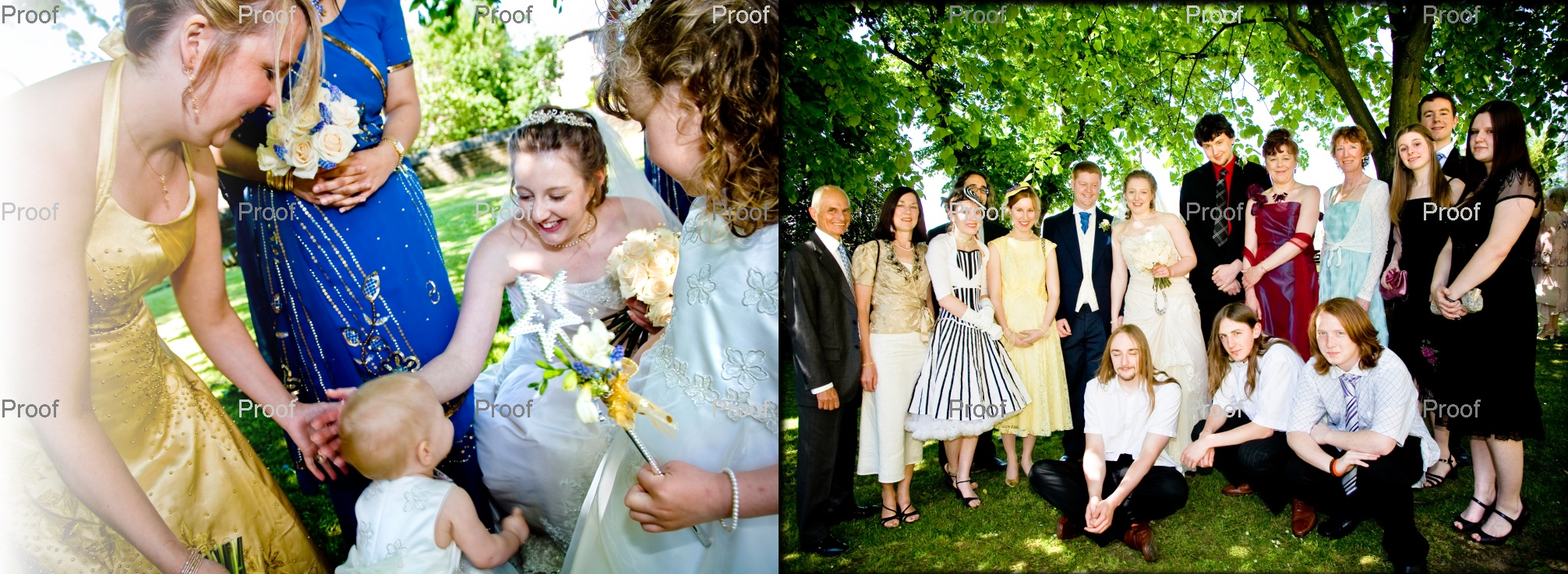 touching wedding pictures outside St Marys Church in Wyke, West Yorkshire. pages 26-27 of storybook
