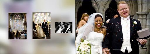 Graphistudio Italian wedding album storybook by Reel Life Photos pages 28-29