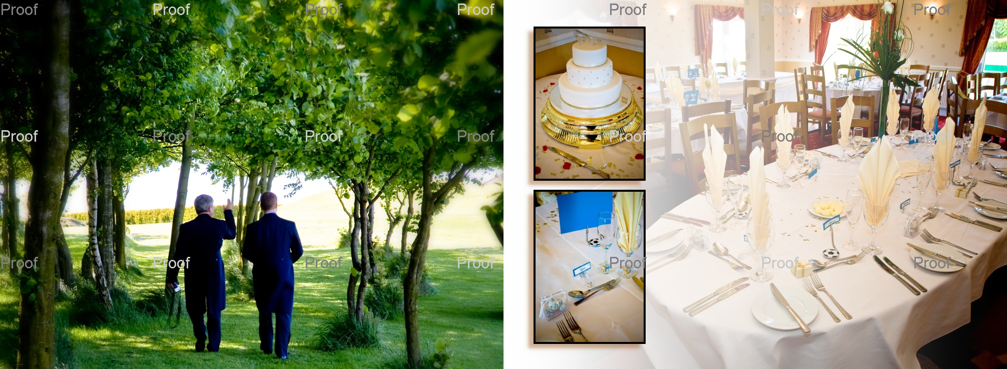 pages 40-41 wedding storybook album wedding reception venue West Yorkshire - Drighlington Golf Club