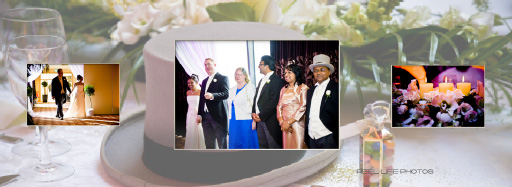Graphistudio Italian storybook at wedding venue Pages 46-47 with official line-up receiving line