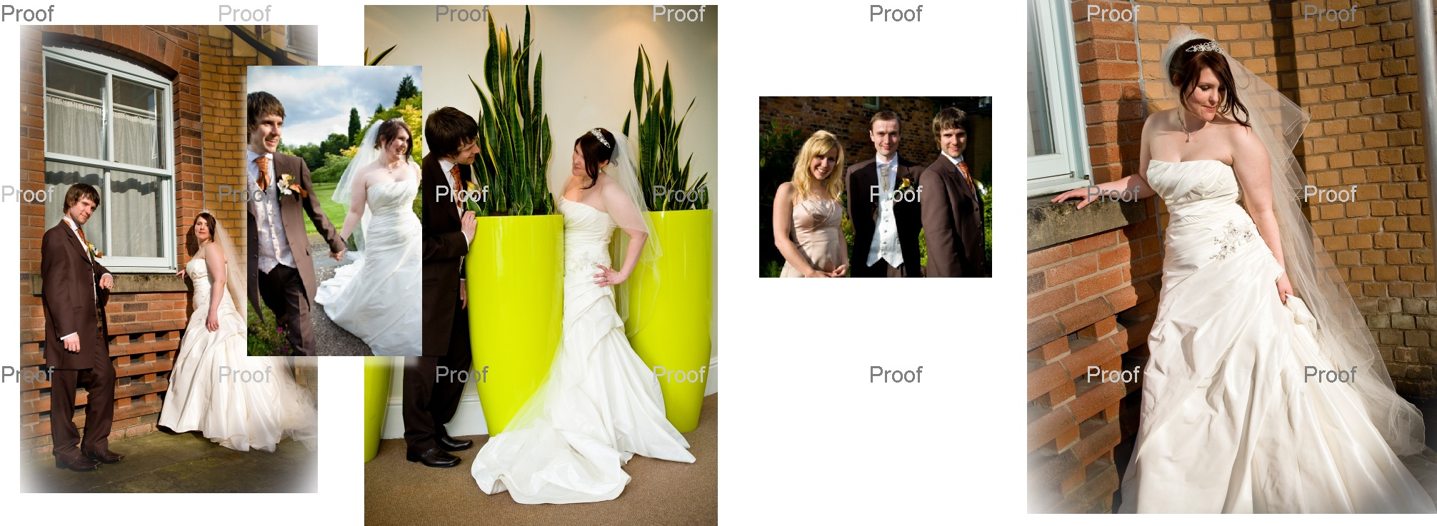 pages 62-63 wedding storybook album Louise and Martin's wedding pictures Manchester