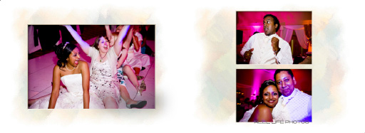 really late night party fun at evening wedding reception.  pages 64-65 Graphistudio Itailan album