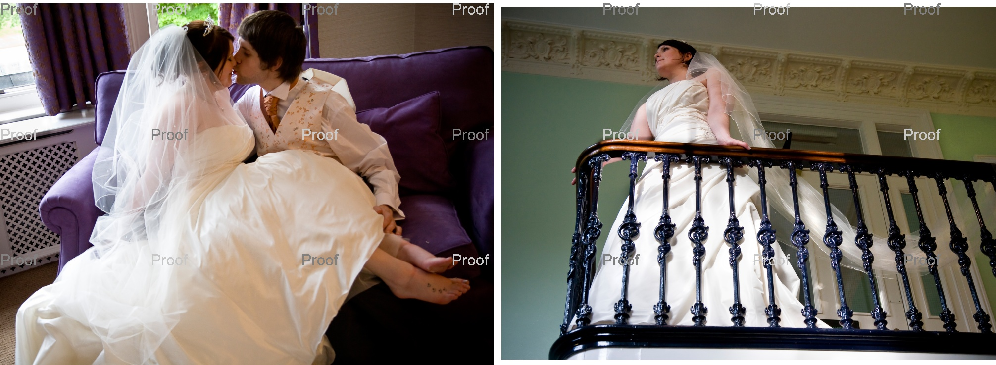 pages 70-71 of wedding storybook album with Louise and Martin's wedding photography in Manchester