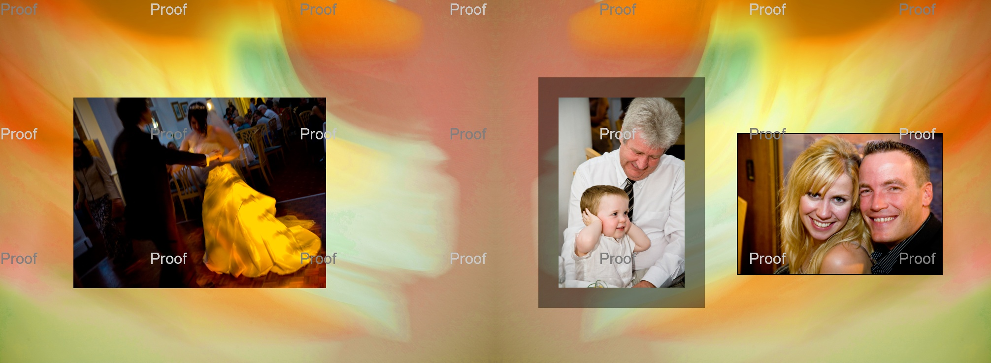 pages 80-81 crestive wedding storybook pictures of first dance and family