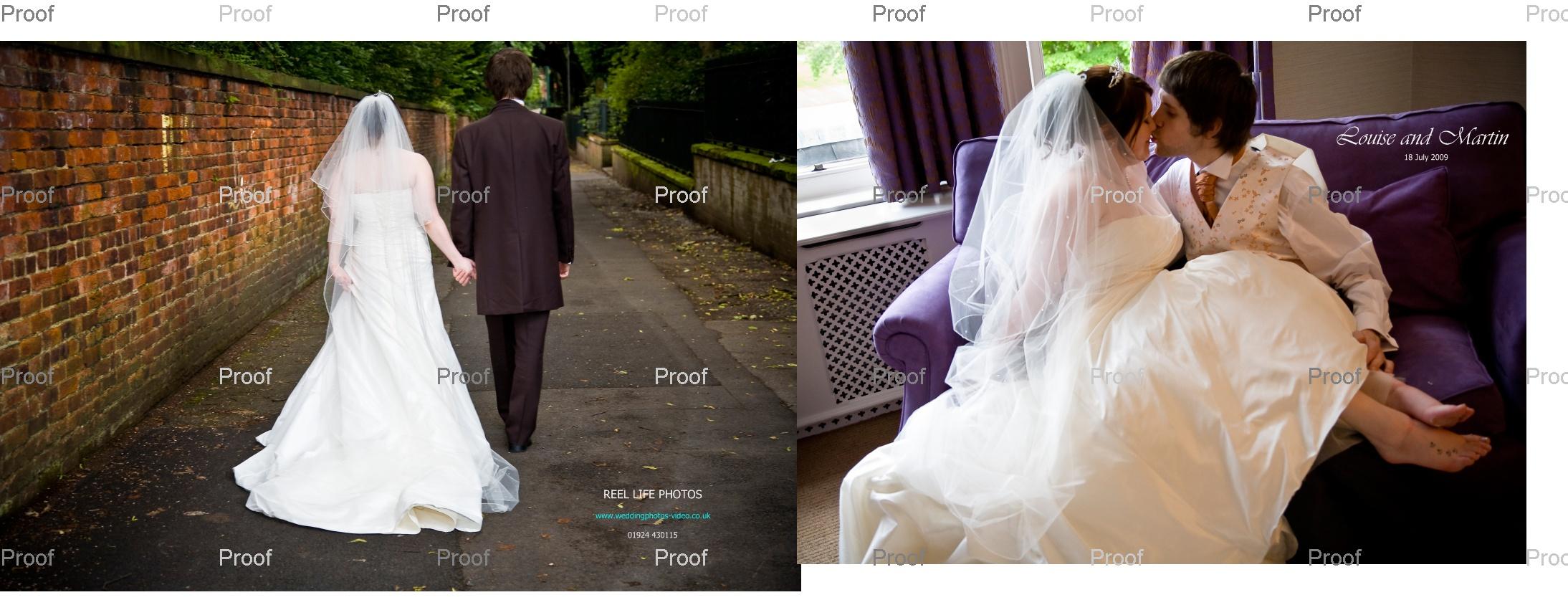 cover design for Louise & Martin's wedding storybook Album