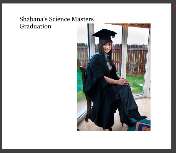 Title page of graduation photos