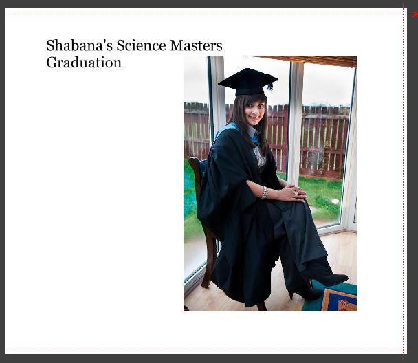 Title page of graduation photos