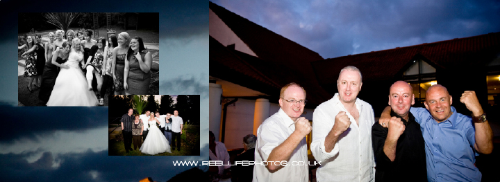 night time wedding pictures outdoors at Hellaby Hall in South Yorkshire