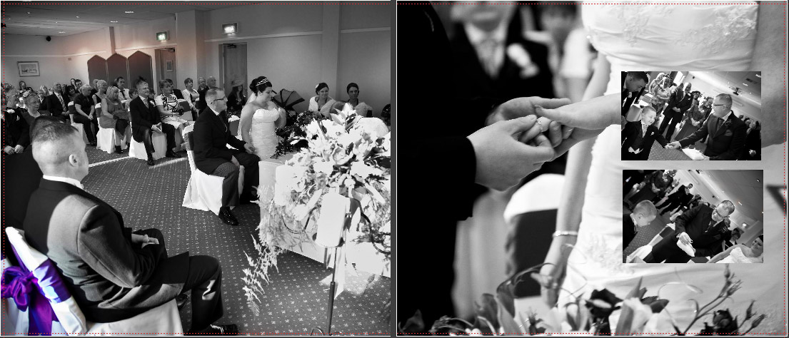 Black and White picture of wedding ceremony