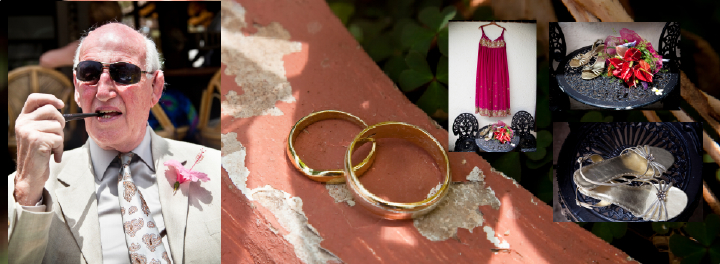Bride's Father, Rings, dress and shoes ready for Gambian wedding