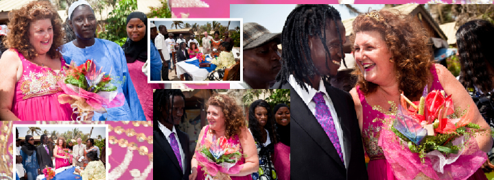 outdoor wedding ceremony in The Gambia
