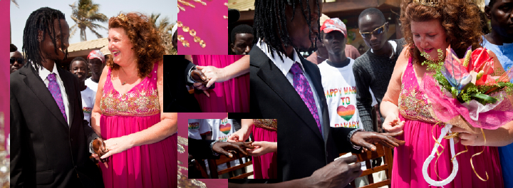 exchange of wedding rings in The Gambia