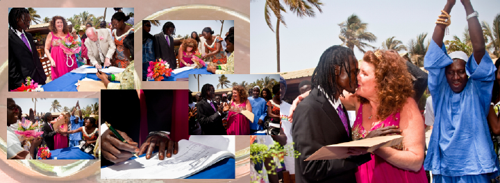 signing the marriage register in The Gambia