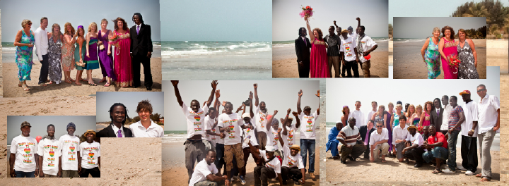 Gambian wedding pictures on the beach